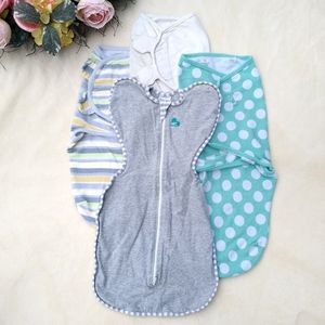 Bundle of four baby swaddles